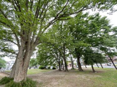 【神明北公園|さいたま市北区】JR東日本 大宮総合車両センターが近くにある、鉄道スポットな公園
