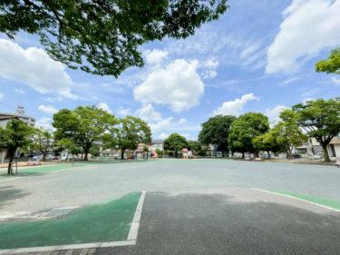 【精進場公園|さいたま市大宮区】開放感ある広場が良い、遊具も楽しめる公園